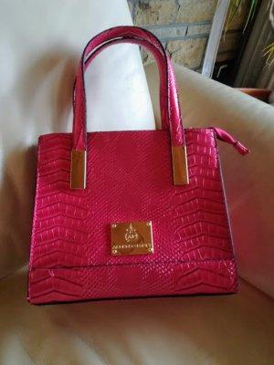 """""""Alfredo Pauly"""" Handtasche Echsen-Design pink, wie neu!"""