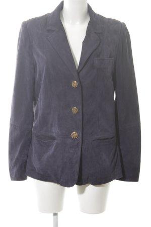 Alfredo Pauly Jersey blazer blauw zakelijke stijl