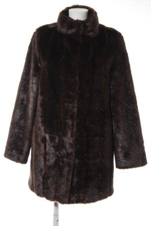 Alfredo Pauly Fake Fur Coat black brown-black elegant