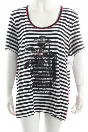Alfredo Pauly Shirt white-black striped pattern casual look