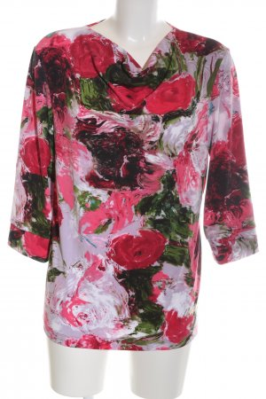 Alfredo Pauly Cowl-Neck Shirt flower pattern casual look