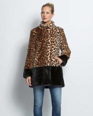 Alfredo Pauly Between-Seasons-Coat multicolored fake fur