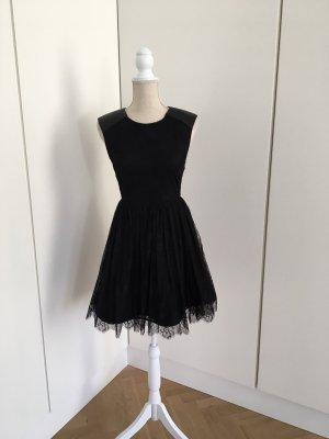Alice + Olivia Kanten jurk zwart