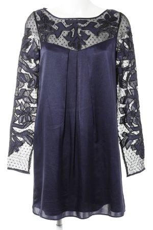 Alice by Temperley Jurk met lange mouwen donkerblauw elegant