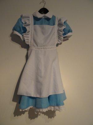 A-lijn jurk azuur-wit