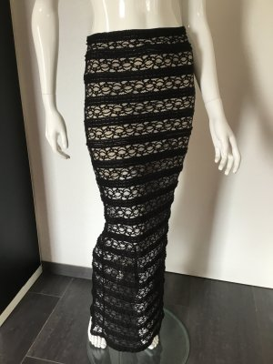 Alice + Olivia Maxi Skirt black mixture fibre