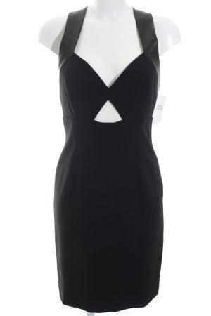 Alice + Olivia Vestido cut out negro estilo clásico