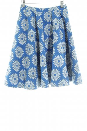 Alice + Olivia Flared Skirt blue-white flower pattern casual look