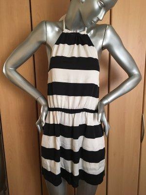 alice+olivia Jumpsuit Gr. 36 aus Seide schwarz weiß gestreift