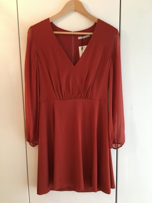 Alice + Olivia Mini Dress russet mixture fibre