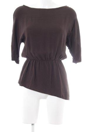 Alice + Olivia Blouse à manches courtes brun foncé style simple
