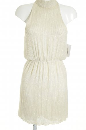 Alice + Olivia Sequin Dress cream romantic style