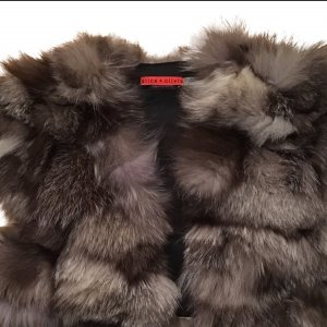 Alice + Olivia Fur vest multicolored pelt