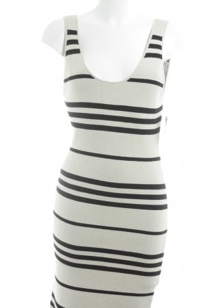 Alice + Olivia Knitted Top cream-black striped pattern athletic style