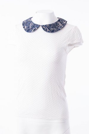 Alice + Olivia Blouse Top white-dark blue
