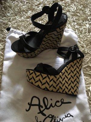 Alice + Olivia Sandales à talons hauts et plateforme multicolore