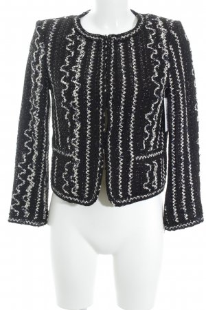 Alice + Olivia Wool Blazer black-white abstract pattern elegant
