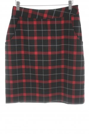 Alice's Pig Pencil Skirt black-red check pattern business style