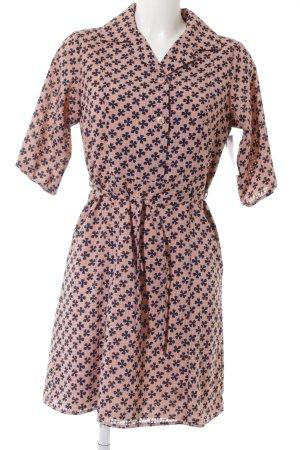 Alice's Pig Blouse Dress dusky pink-dark blue flower pattern vintage look