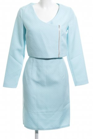 Alice's Pig Ladies' Suit light blue-white graphic pattern business style