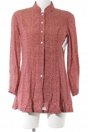 Alice's Pig Long Blouse russet-cream flower pattern casual look