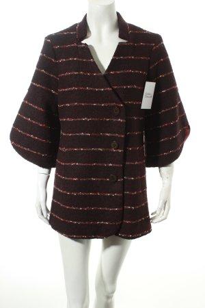 Alice's Pig Coat black-dark red striped pattern