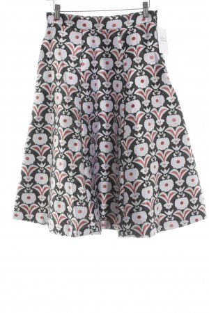 Alice's Pig Midi Skirt flower pattern extravagant style