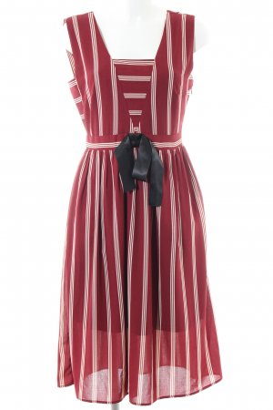 Alice's Pig Pinafore dress red-natural white striped pattern elegant