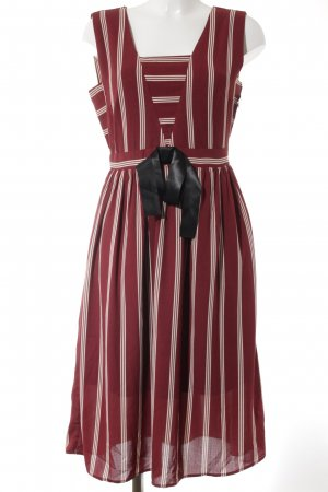 Alice's Pig Pinafore dress carmine-natural white striped pattern vintage look