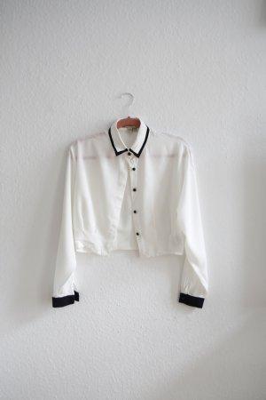 Alice's Pig Blouse white-black cotton