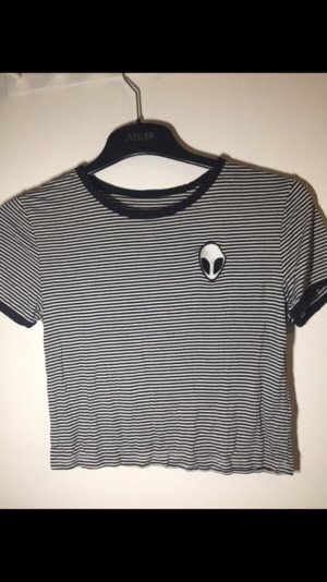 T-shirt court noir-blanc