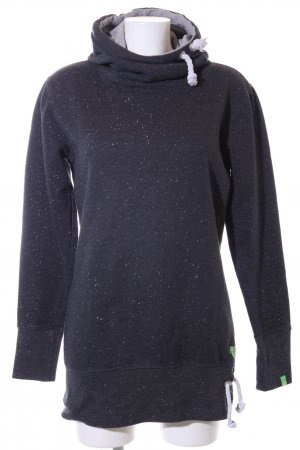 Alife & Kickin Hooded Sweatshirt black flecked casual look