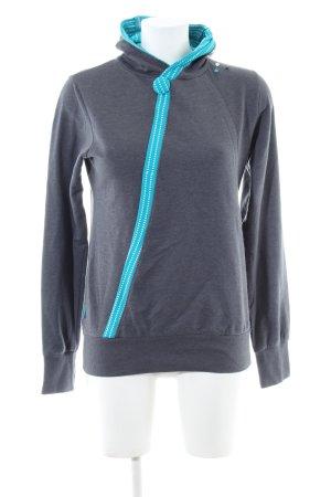 Alife & Kickin Felpa con cappuccio grigio chiaro puntinato stile casual