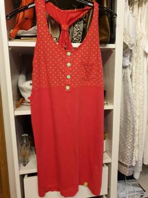 Alife & Kickin Pinafore dress red