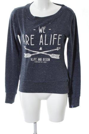 Alife & Kickin Felpa blu puntinato stile casual