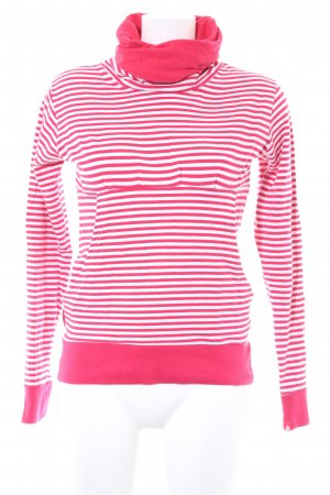 Alife & Kickin Sweat Shirt magenta-white striped pattern casual look