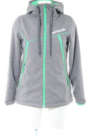 Alife & Kickin Between-Seasons Jacket light grey-green printed lettering
