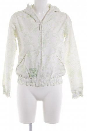 Alife & Kickin Between-Seasons Jacket natural white-meadow green flower pattern