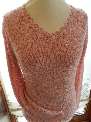 Jersey con cuello de pico rosa empolvado