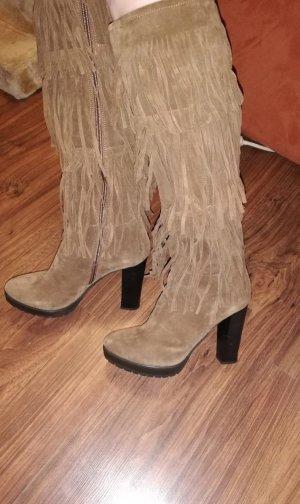 Alisha Laarzen met hoge hakken lichtbruin-bruin