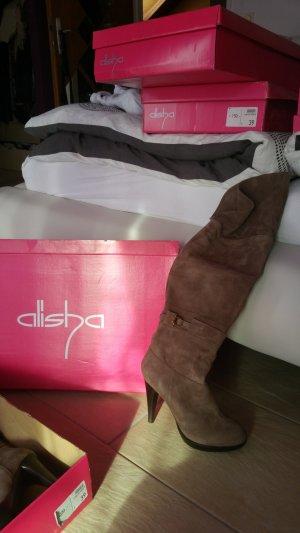 Alisha Cuissarde chameau cuir