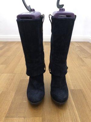 Alisha Stivale militare blu scuro-marrone