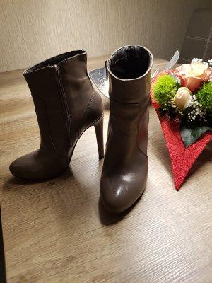 Alisha Platform Booties taupe-grey brown leather