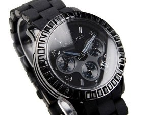 ALL BLACK schwarze Michael Kors Quarz Damenuhr MK5512
