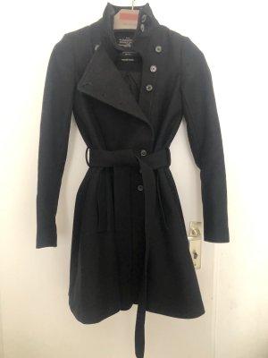 All Saints Manteau en laine noir