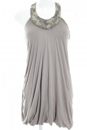 All Saints vestido de globo beige-color plata elegante