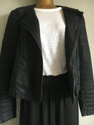 All Saints Veste motard noir coton