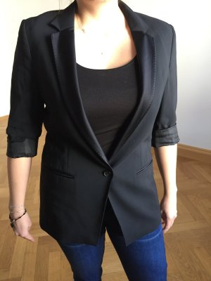 all saints Blazer schwarz Smoking Stil Gr 38