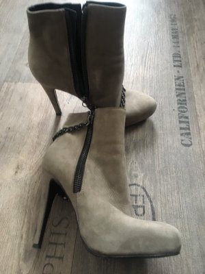 All Saints Botas con cremallera marrón grisáceo