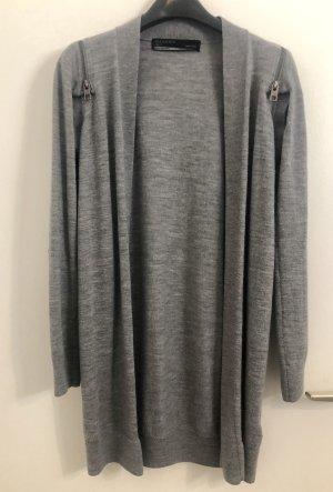 All Saints Veste en tricot gris-gris clair
